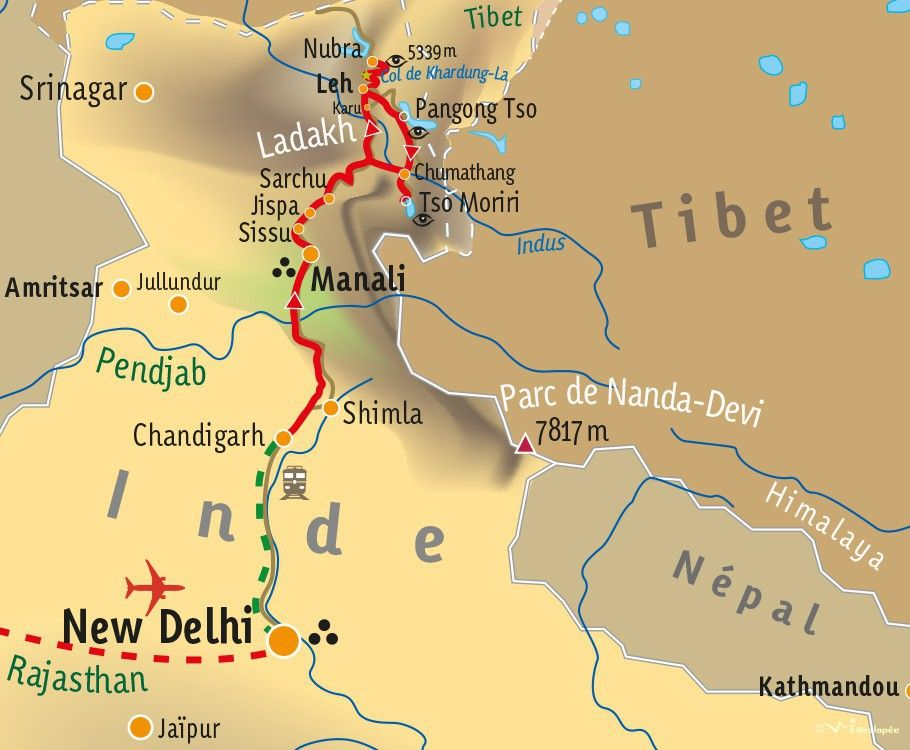[KEY_MAP] - INDE/LADAKH - La Transhimalayenne en Royal Enfield