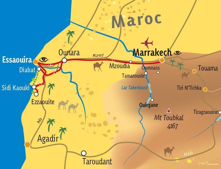 [KEY_MAP] - MAROC - Mini-rando Atlantique au sud d'Essouira