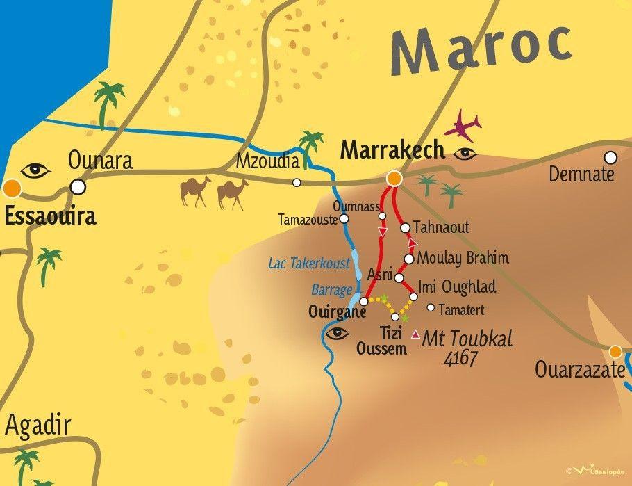 [KEY_MAP] - MAROC - Vallées du Toubkal en mini-Trek