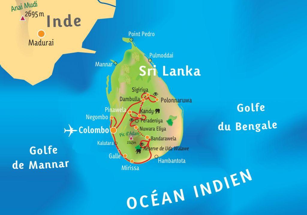 [KEY_MAP] - SRI LANKA - Découverte Sri lankaise