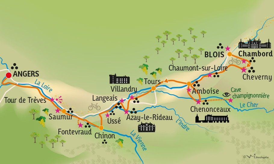 [KEY_MAP] - FRANCE - La Loire à vélo - version sportive