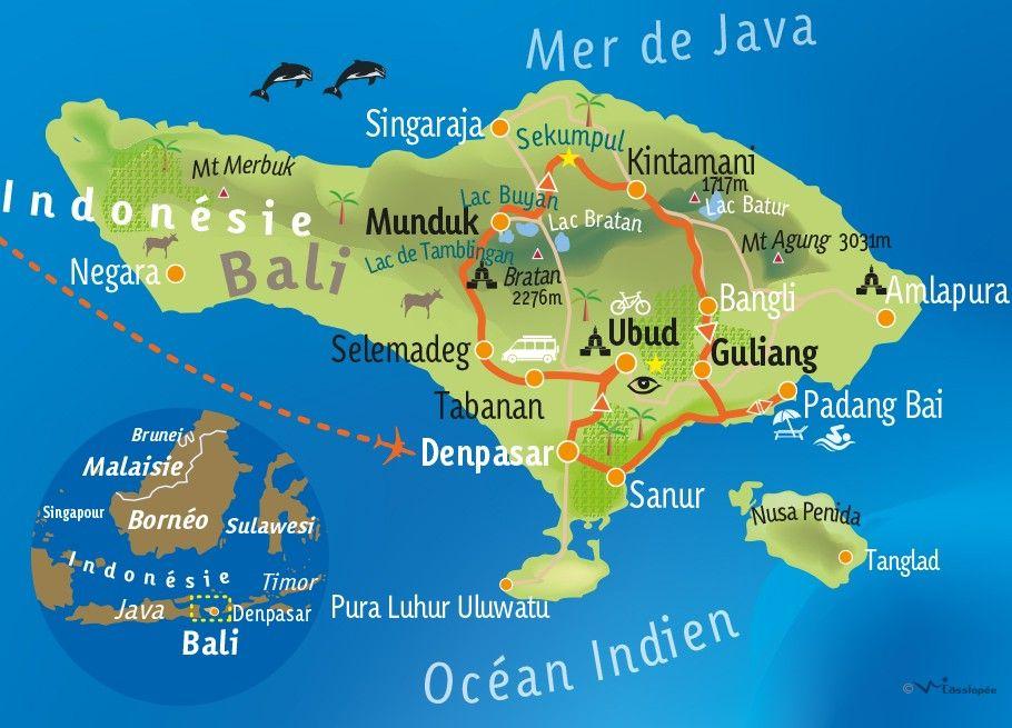 Carte Muette Bali.Bali Bali Autrement