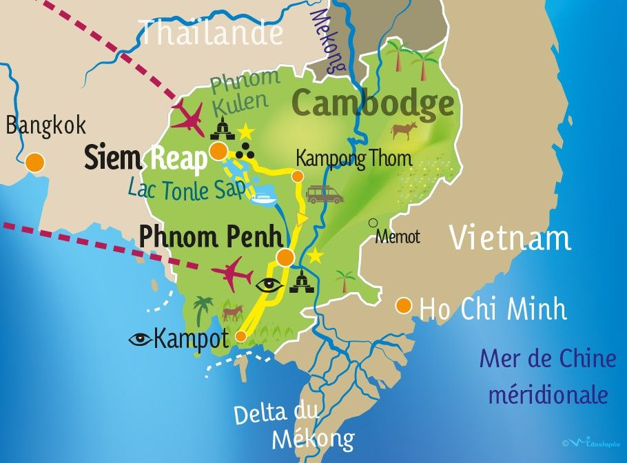 [KEY_MAP] - CAMBODGE - Charmes du Cambodge