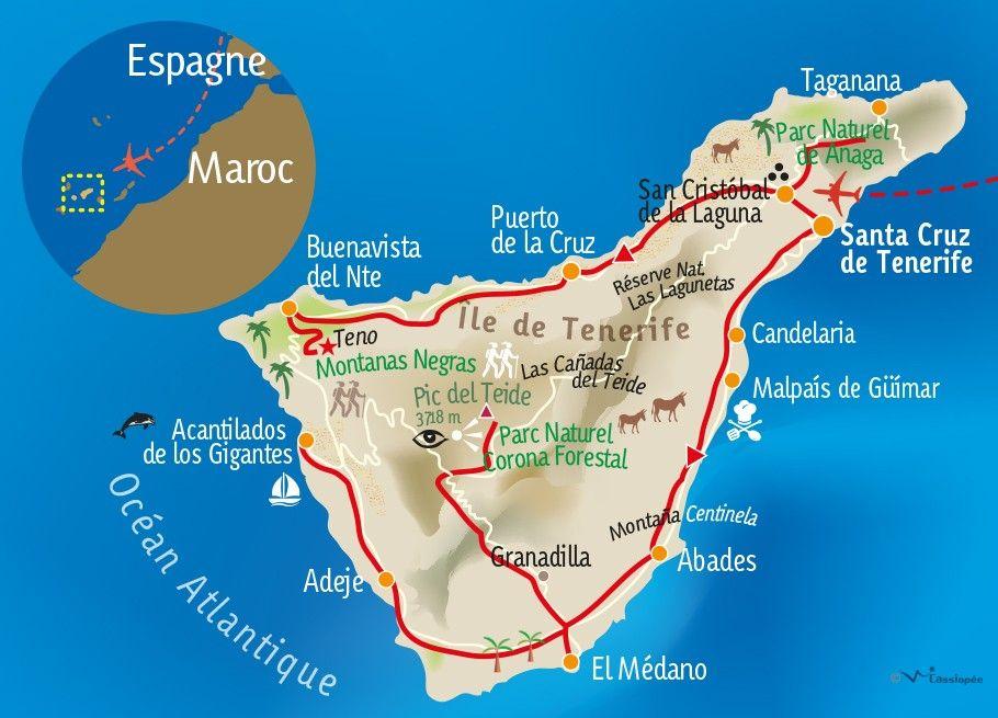 [KEY_MAP] - ESPAGNE - TENERIFE - L'île du printemps éternel