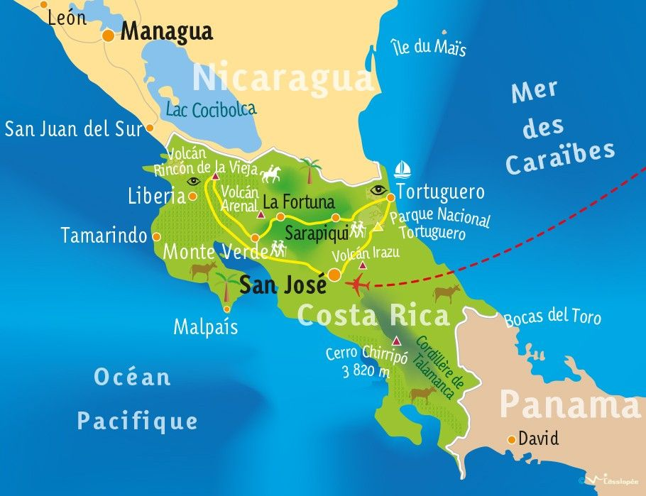 [KEY_MAP] - COSTA RICA - Escapade au Paradis vert