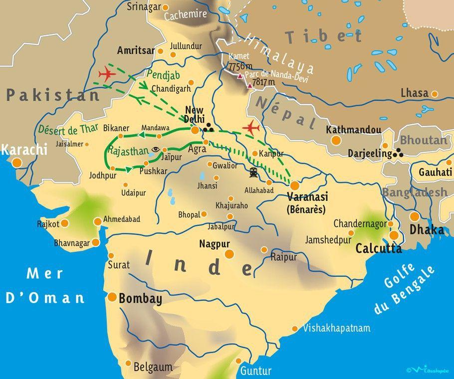 [KEY_MAP] - INDE/RAJASTHAN - Terre des Maharajas - Holi