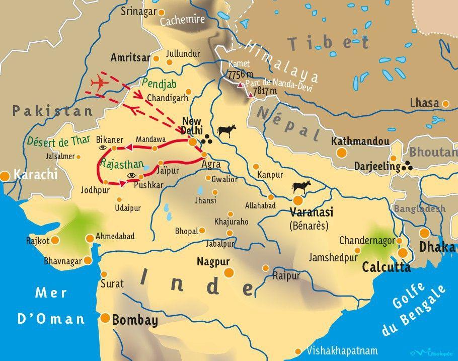 [KEY_MAP] - INDE/RAJASTHAN - Terre des Maharajas - Pushkar
