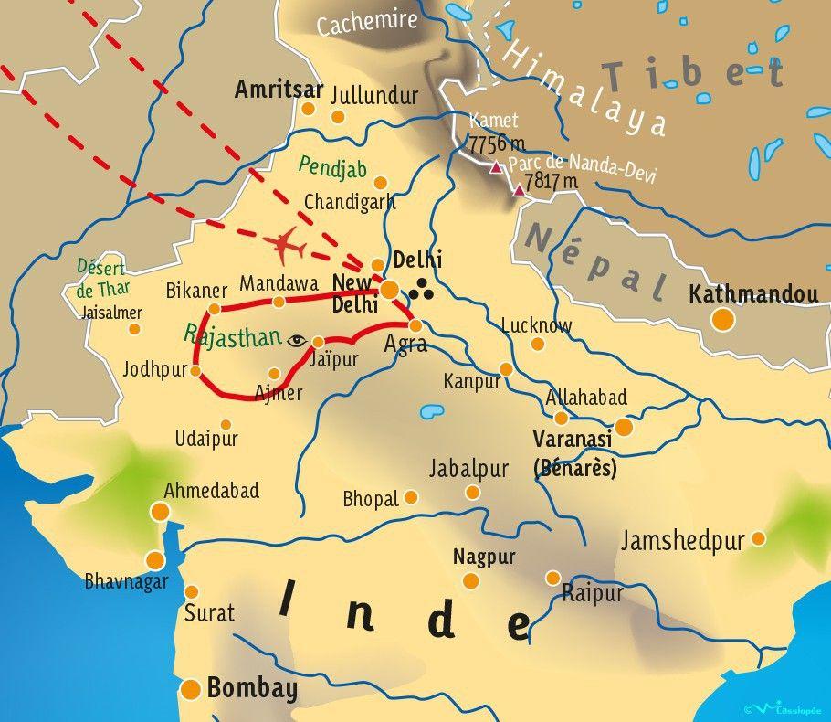 [KEY_MAP] - INDE/RAJASTHAN - Terre des Maharajas - Fête de Diwali