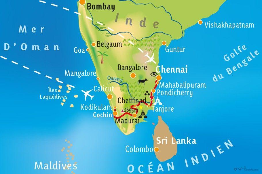 [KEY_MAP] - INDE/KERALA/TAMIL NADU - Envoûtante Inde du Sud !