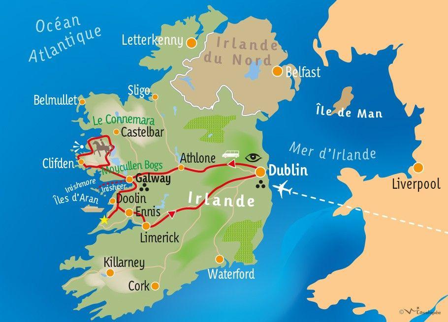 [KEY_MAP] - IRLANDE - Autotour sur la côte atlantique sauvage