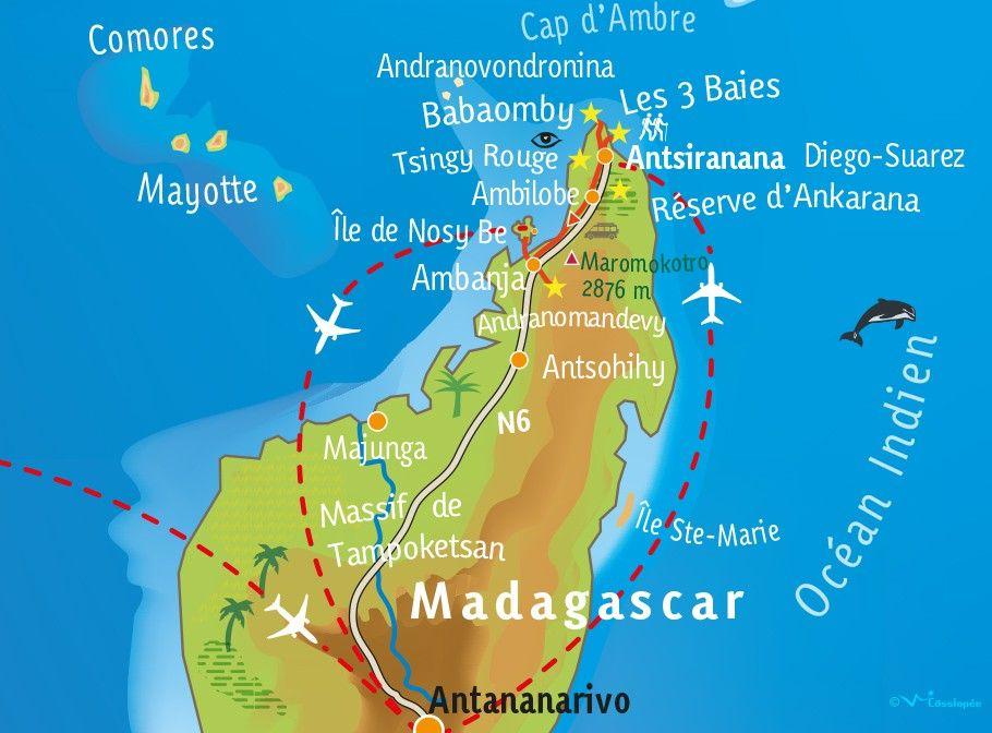 [KEY_MAP] - MADAGASCAR - De la baie de Diego aux eaux turquoises de Nosy Be