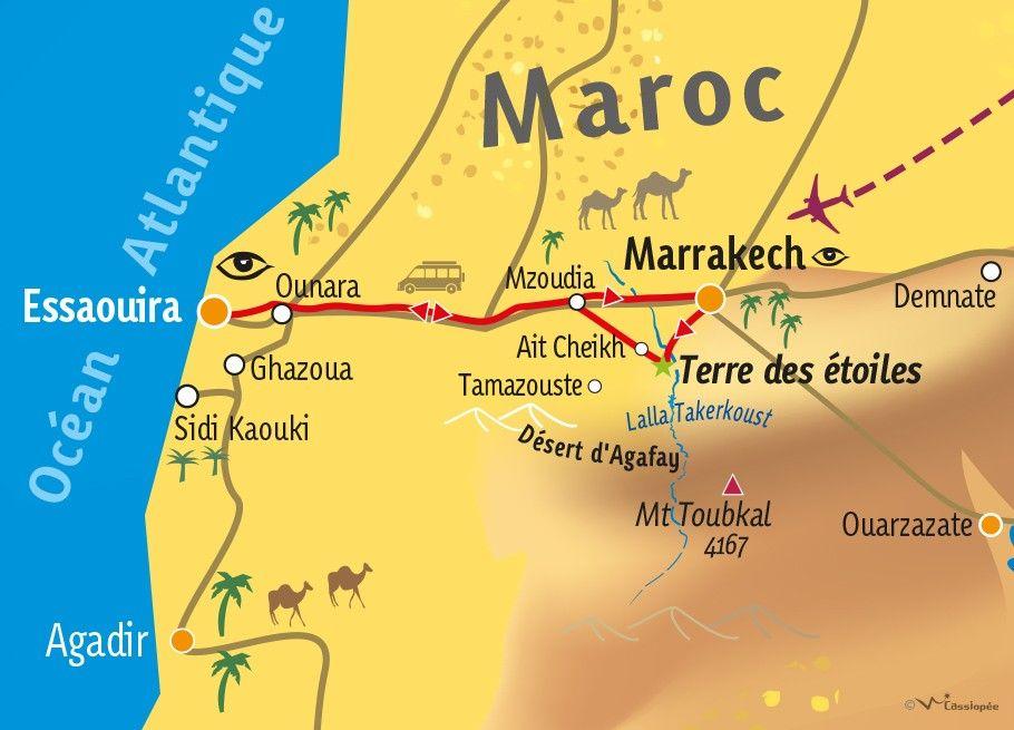 [KEY_MAP] - MAROC - Désert et Océan Marocain