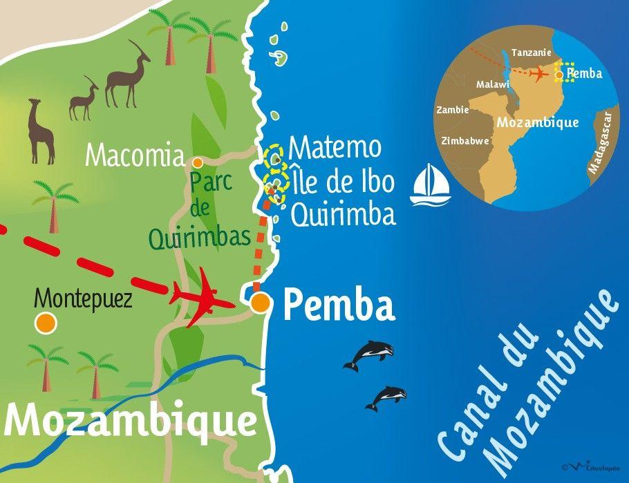 [KEY_MAP] - MOZAMBIQUE - Croisière Robinson Crusoé dans les Quirimbas