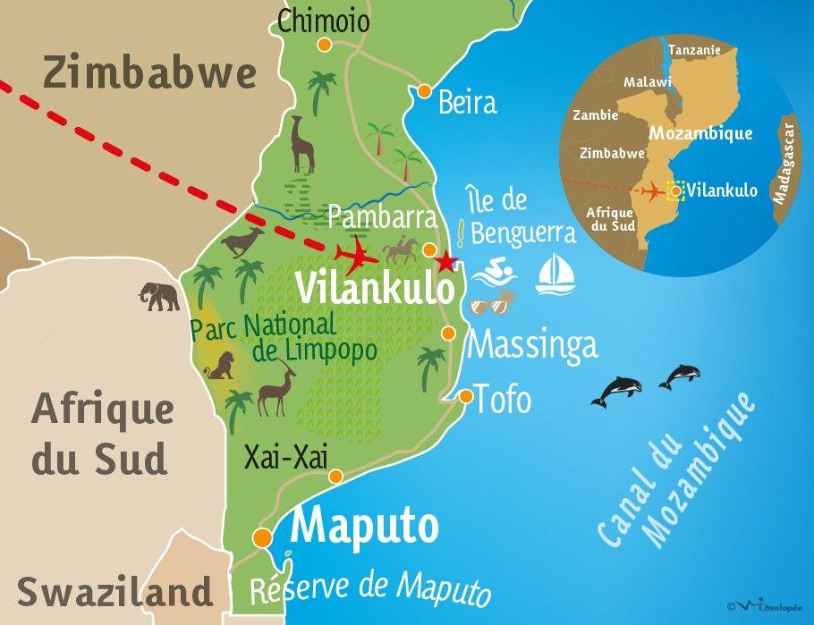 [KEY_MAP] - MOZAMBIQUE - Séjour balnéaire à Vilankulos