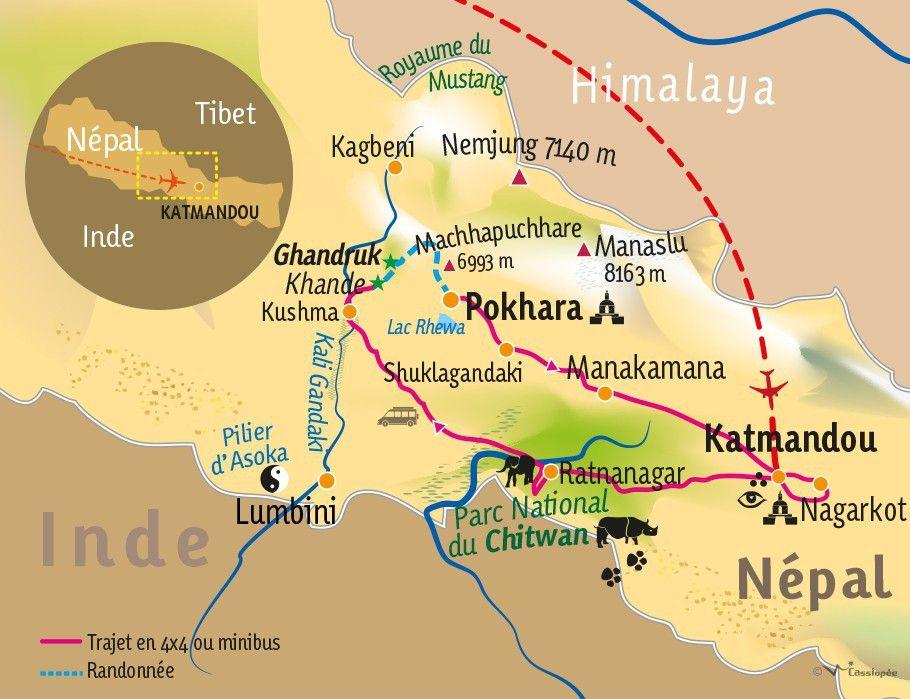 [KEY_MAP] - NEPAL - Katmandou,Chitwan et Annapurna