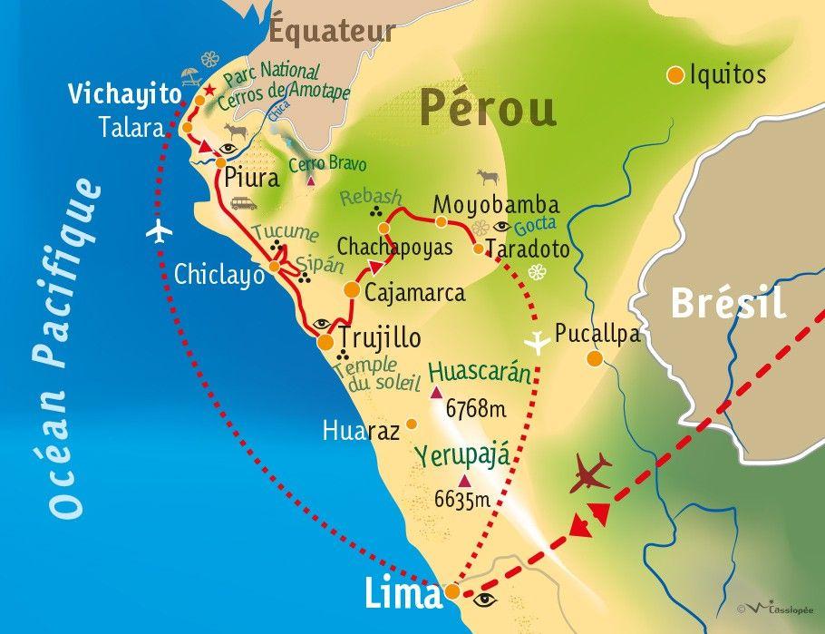 [KEY_MAP] - PEROU - Royaumes pré-Inca : Pacifique, Andes et Amazonie
