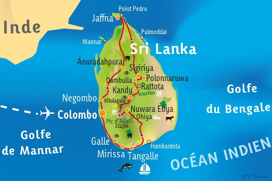 [KEY_MAP] - SRI LANKA - Ex-Ceylan pour les actives !