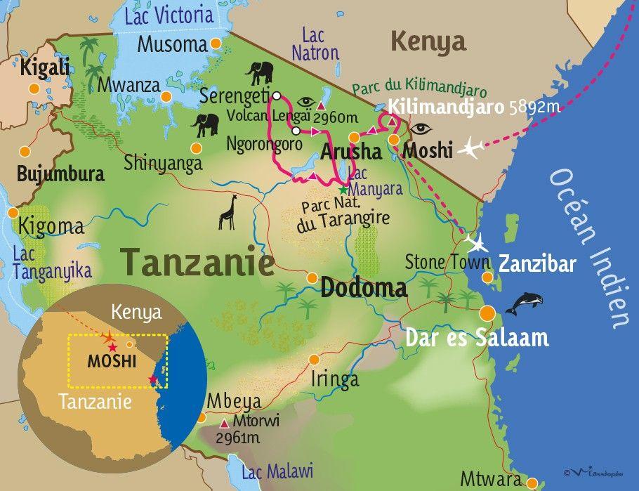 [KEY_MAP] - TANZANIE - Immersion en Terre Masaï & farniente à Zanzibar