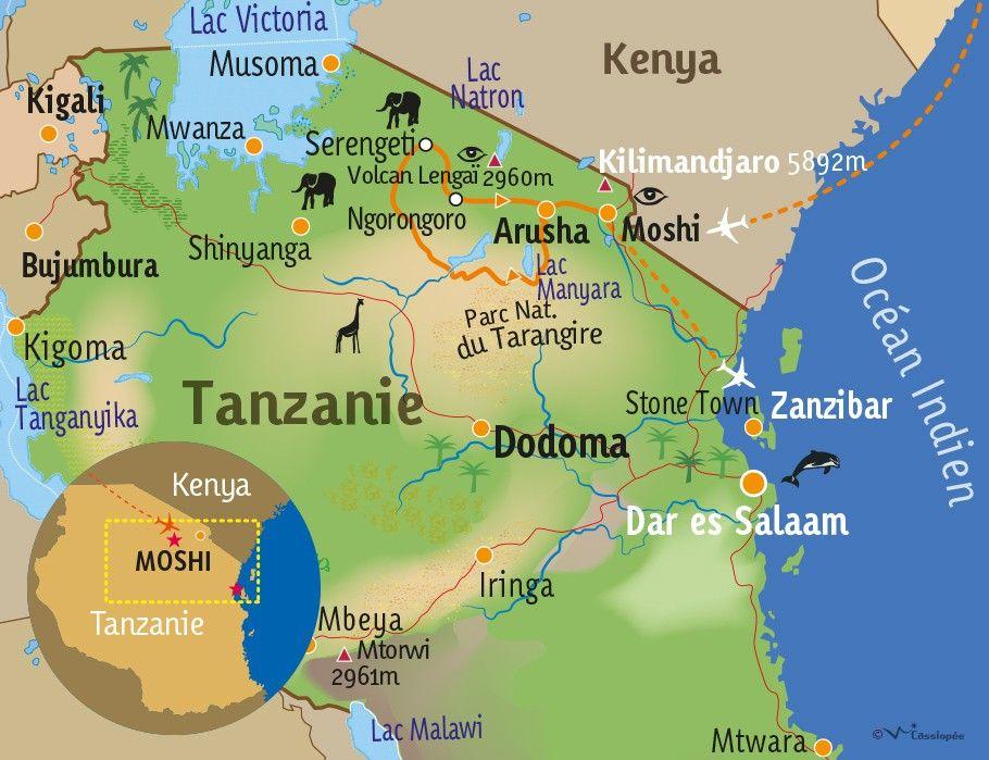 [KEY_MAP] - TANZANIE - Safaris & Zanzibar version charme
