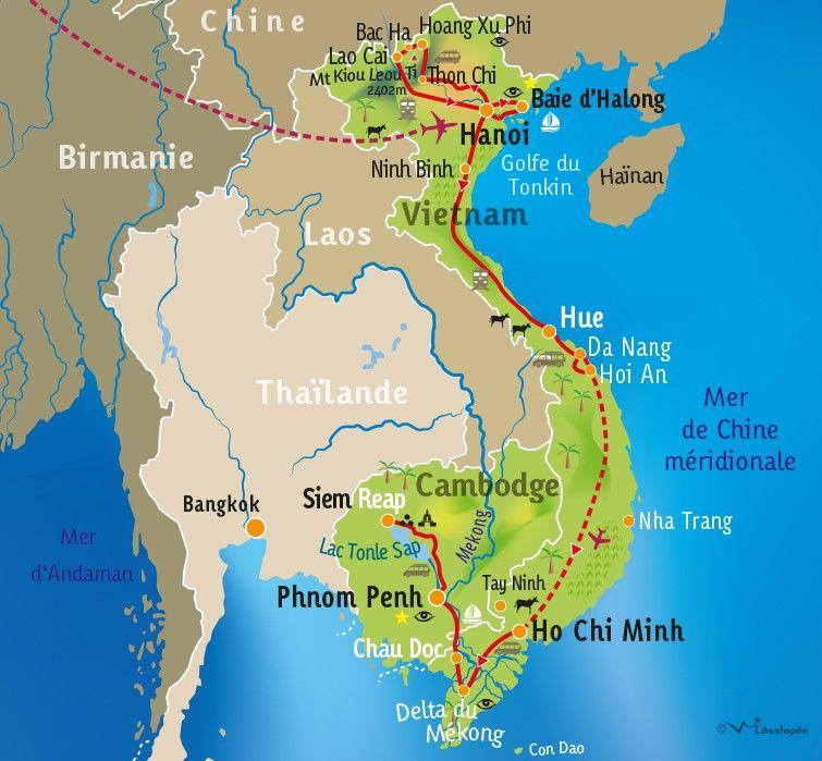 [KEY_MAP] - VIETNAM / CAMBODGE - Tonkin, Mékong et Angkor