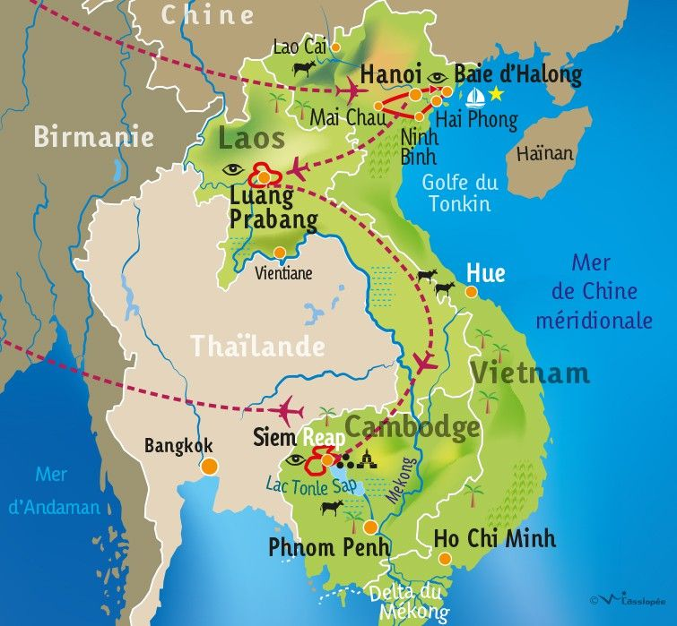 [KEY_MAP] - VIETNAM / LAOS / CAMBODGE - Balades indochinoises
