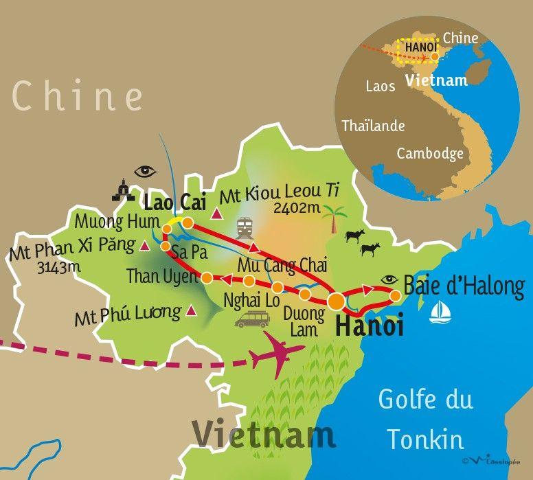 [KEY_MAP] - VIETNAM - Randonnée au cœur des minorités et Baie d'Halong
