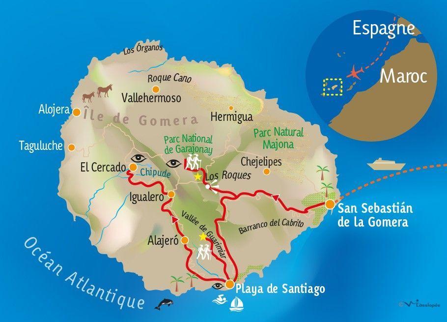 [KEY_MAP] - ESPAGNE - GOMERA - Découverte et rencontres à Gomera