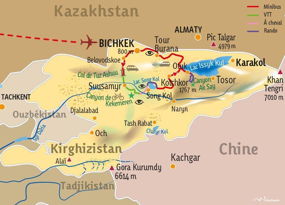 [KEY_MAP] - KIRGHIZISTAN - Traversée Kirghize en mode aventure !