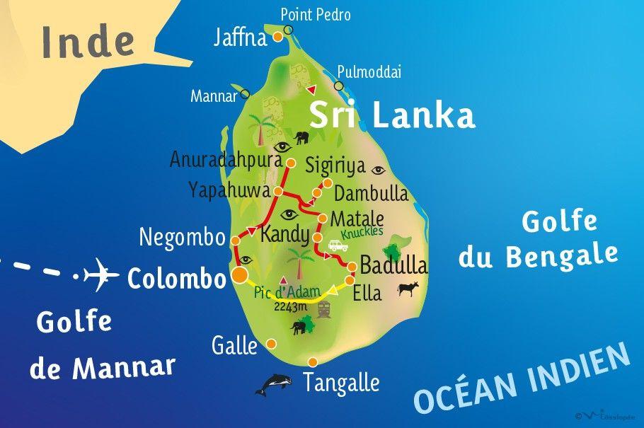 [KEY_MAP] - SRI LANKA - Découverte & Bien-être au Sri Lanka